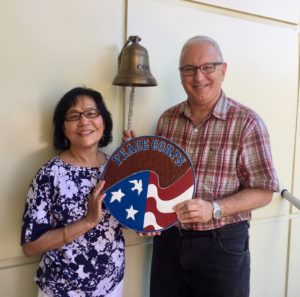 David and Champa Jarmul celebrate the completion of the two years of Peace Corps service in Moldova.